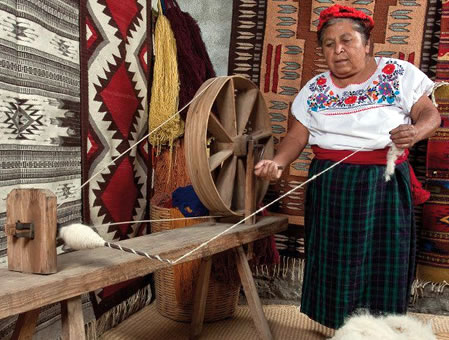 Wool Rugs From Oaxaca Mexico