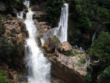 La Esmeralda is a waterfall in Oaxaca Mexico