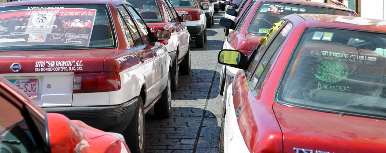 Colectivo Taxis Oaxaca Mexico
