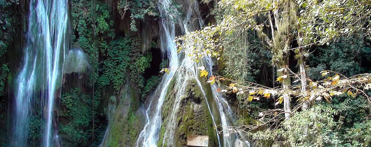 Las Regaderas Waterfall Oaxaca Mexico