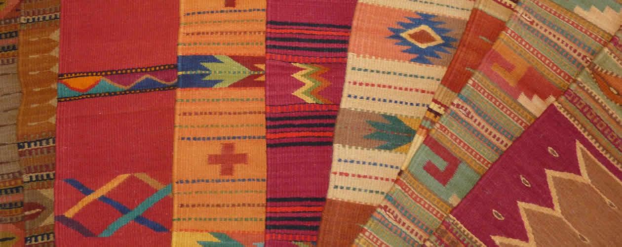 Wool rugs Oaxaca Mexico