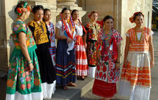 Traditional dresses Oaxaca Mexico